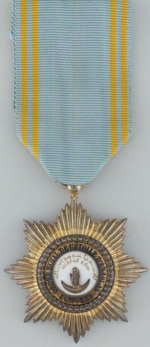 Аверс и реверс знака Кавалера ордена Звезды Анжуана.