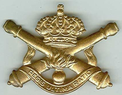 Знак артиллерии Королевских ВС Бельгии.