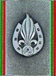 Знаки 2-го иностранного полка.