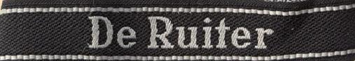 Манжетная лента 49-го гренадерского полка СС «De Ruiter».