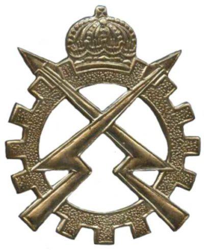 Знак службы инженеров электриков и механиков Королевских ВС Бельгии.