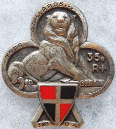 Аверс и реверс знака 35-го пехотного полка.