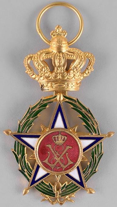 Аверс и реверс знака Офицера Африканской Звезды.