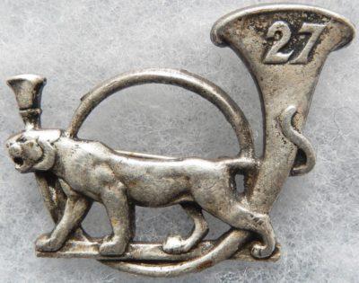 Аверс и реверс знака 27-го батальона егерей.