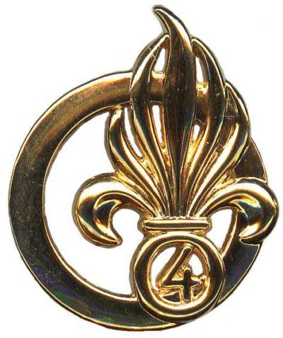Знак 4-го иностранного полка.