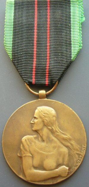Аверс и реверс медали вооруженного Сопротивления 1940-1945.