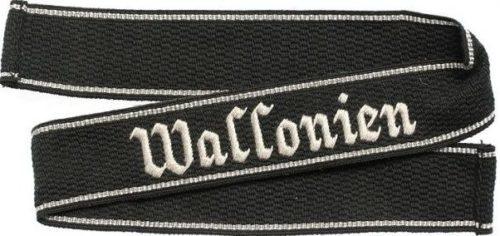 Манжетная лента 8-й добровольческой панцергренадерской дивизии СС «Wallonien» (1-я валлонская).