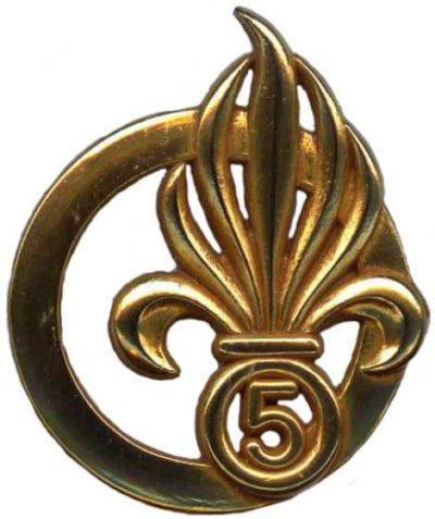 Знак 5-го иностранного полка.