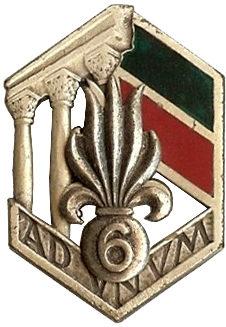 Знаки 6-го иностранного полка.