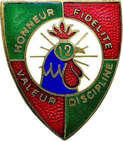 Знак 12-го иностранного полка.