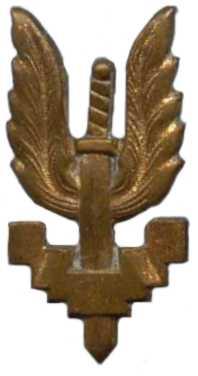 Знаки 1-го парашютно-десантного батальона коммандос.
