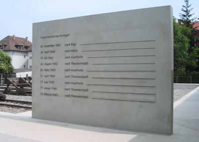 г. Штутгарт. Стела в память о депортации 2 тысяч евреев.