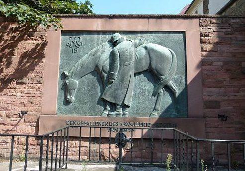 г. Штутгарт р-н Бад Канштатт. Памятник воинам 18-го кавалерийского полка, погибшим во время Второй мировой войны.