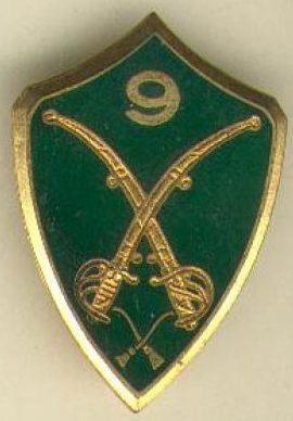 Знак 9-го егерского полка.