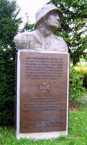 г. Штутгарт-Бад-Каннштатт. Памятник воинам 119-го пехотного полка, 3,5 тысячи которых не вернулись с войны.
