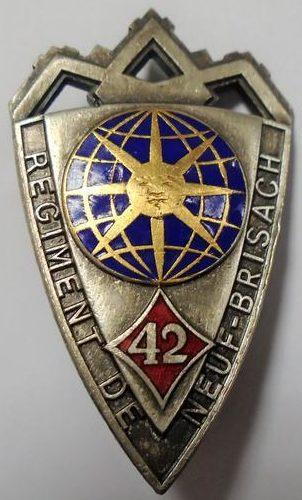 Знак 42-го пехотного полка.