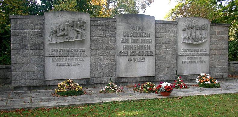 Памятник узникам концлагеря.