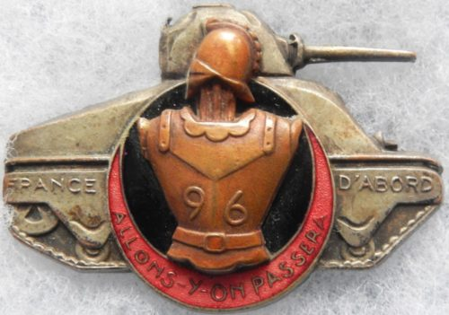 Аверс и реверс знака 96-го инженерного батальона 5-й бронетанковой дивизии.