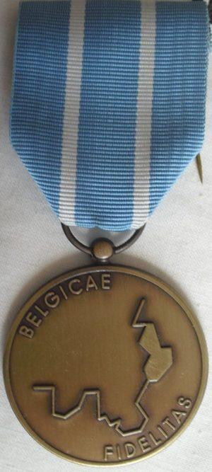 Аверс и реверс медали «За сопротивления на аннексированных территориях» для остальных категорий.