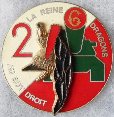 Аверс и реверс знака 2-го эскадрона 6-го драгунского полка.