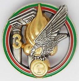 Знаки 1-го иностранного инженерного полка.