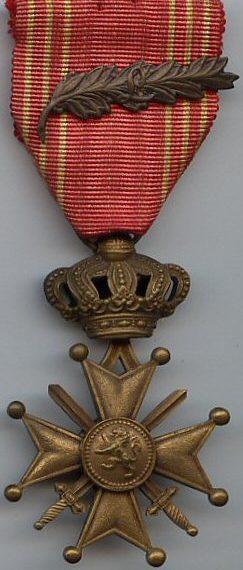 Аверс и реверс Военного креста 1940-1945.