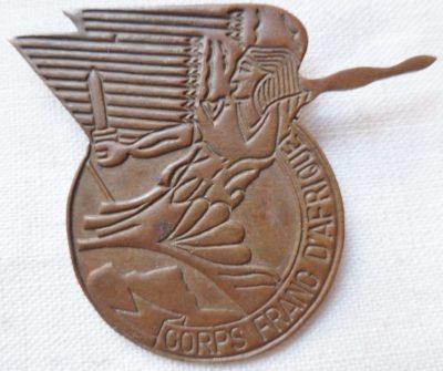 Аверс и реверс знака Африканского корпуса.