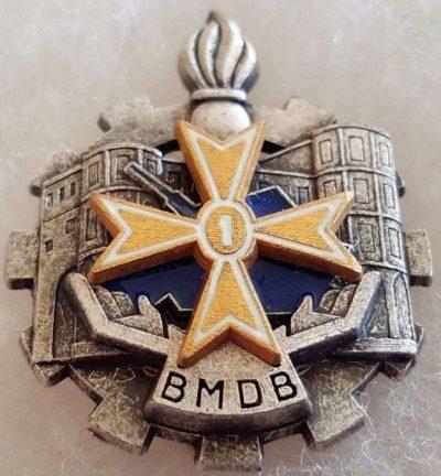 Аверс и реверс знака батальона материального обеспечения 1-й бронетанковой дивизии.