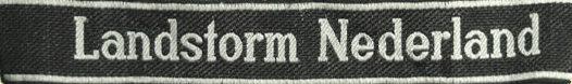 Манжетная лента 34-й гренадерской дивизии СС «Landstorm Nederland».