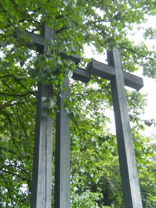 Кресты на братской могиле.