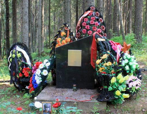 с. Винницы Подпорожского р-на. Памятник, установленный на братской могиле, в которой похоронено 25 бойцов 272 с.д. 7 отдельной армии.