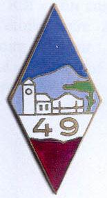 Знак 49-го пехотного полка.