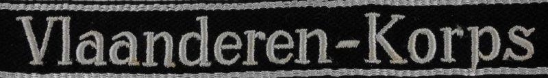 Манжетная лента Бельгийского корпуса СС «Vlaanderen-Korps».