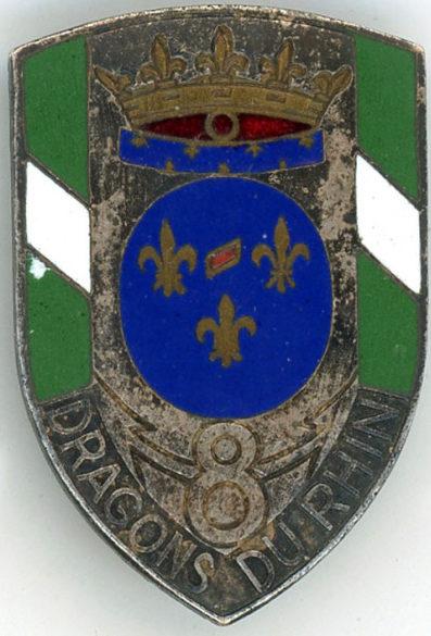 Аверс и реверс знака 8-го полка драгунов.