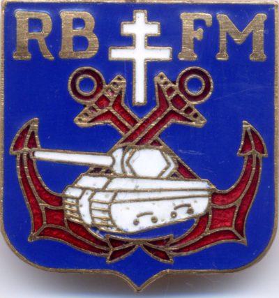 Аверс и реверс знака бронированного полка морской пехоты 2-й бронетанковой дивизии.