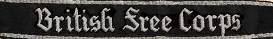 Манжетная лента Британского добровольческого корпуса СС.