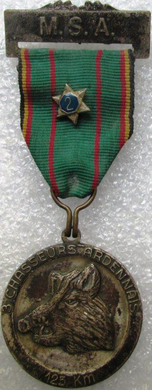 Аверс и реверс памятного знака 3-го егерского полка.