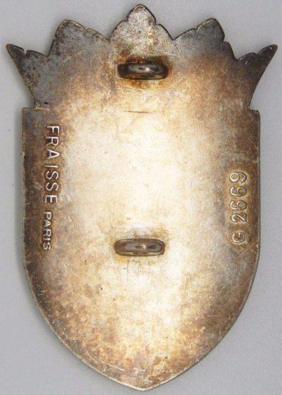 Аверс и реверс знака 54-го пехотного полка.