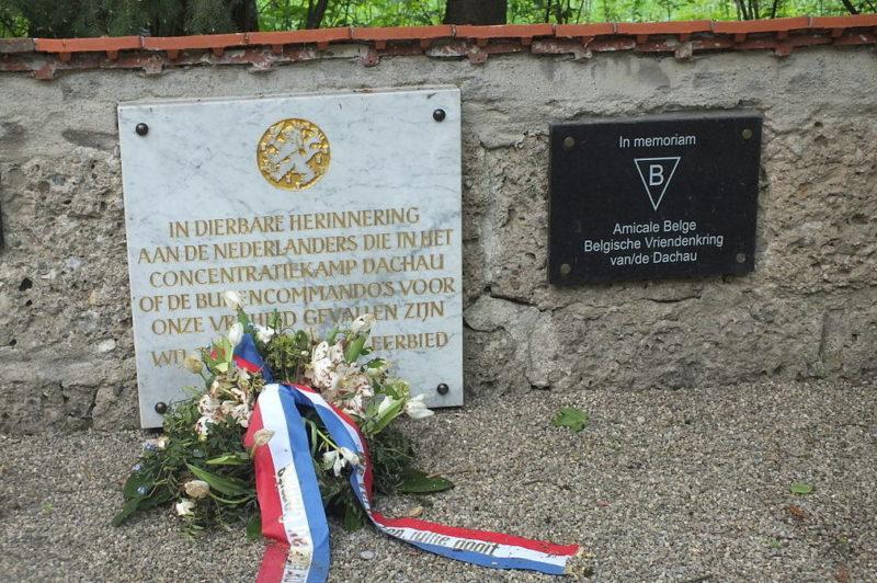 г. Дахау район Etzenhausen. Памятные знаки итальянцам и бельгийцам, погибшим в концлагере Дахау Лейтенберг.