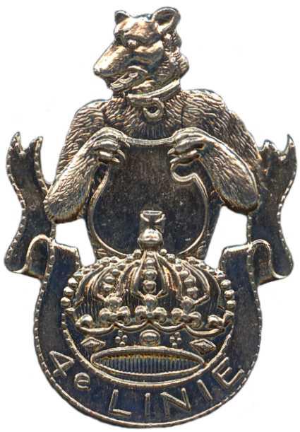 Знак 4-го пехотного линейного полка.