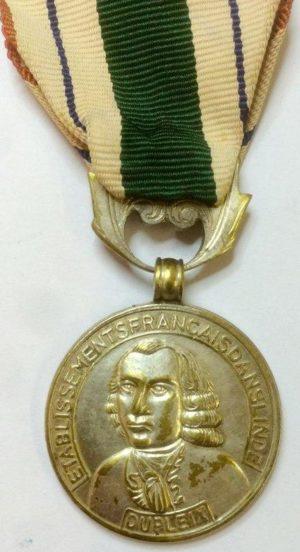 Аверс и реверс бронзовой медали медаль Dupleix 2-го класса.