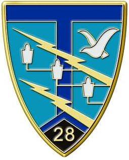 Знак 28-го полка связи.