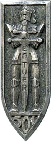 Знак 501-го танкового полка.