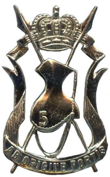 Знаки 5-го уланского танкового полка.