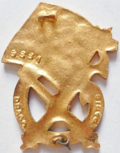 Аверс и реверс знака 1-го артиллерийского полка.