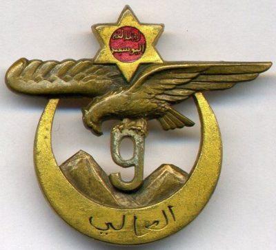 Знаки 9-го полка Алжирских стрелков.
