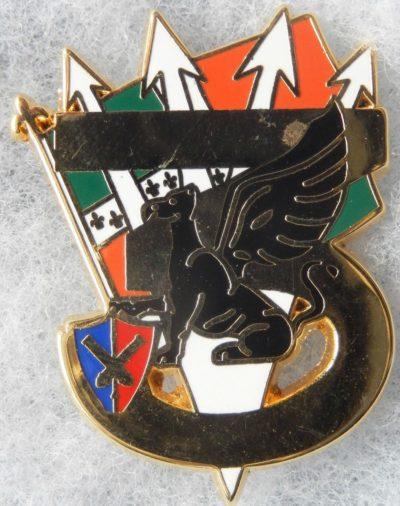 Аверс и реверс знака 1-й батареи 1-го артиллерийского полка.
