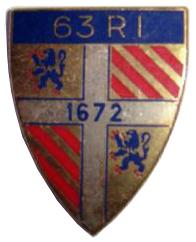 Знак 63-го пехотного полка.
