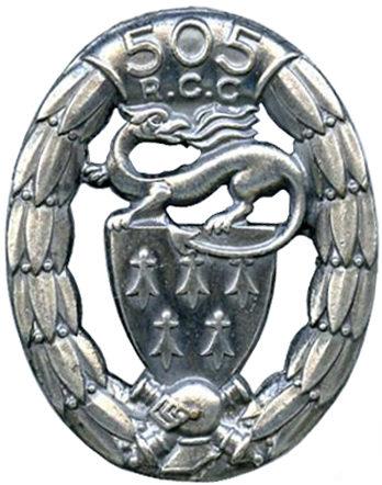 Знак 505-го танкового полка.