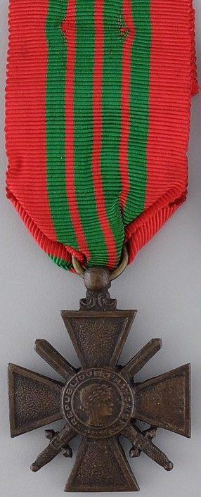 Аверс и реверс Военного креста 1939-1945.